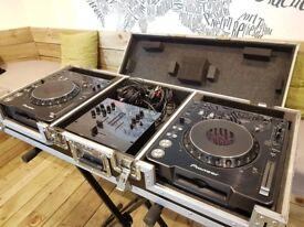 Pioneer CDJs (1000 mk3) + Vestax Mixer + CDJ Coffin Hard Case