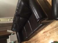 sofa en cuir 3+2 places, leather couch 3+2 seats
