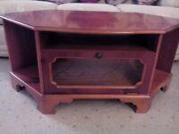 Wooden Corner Television Unit