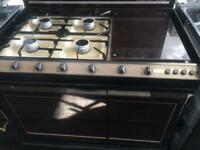 Brown cannon 90cm eye level gas cooker grill & double oven good condition with guarantee
