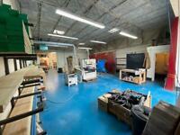 Bench space in workshop. Wood / metalwork