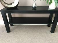 Black wooden sideboard or coffee table