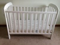 East Coast cot with mattress