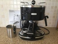 DeLonghi Espresso Coffee Maker and Dualit Milk Frother