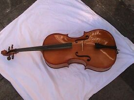 Full sized Cello made in Reghin which is the city of violins in Romania.