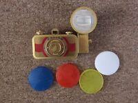 Lomography La Sardina Film Camera Beluga Edition with Colour Filters and Flash