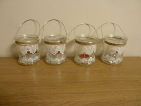 4 x small candle holders
