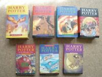 7 x Harry Potter books By J.K Rowling (3 of them First edition)