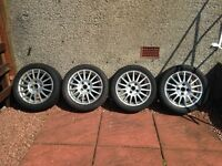 4 Ford 15inch alloys very slight chipping tyre seem OK tyre size 195/R15 £120 ono