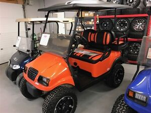 2012 Club Car Phantom Orange/Black 48V Electric