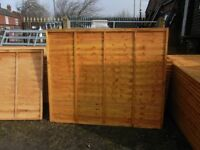 Timber fence panel 6'x5'