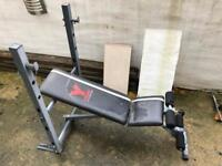 York fitness weights bench plus weights