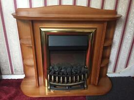 Electric fire place with surround