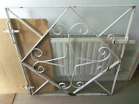 Patio garden entrance wrought iron metal gate W:84cm H:89cm