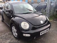 VW BEETLE 1.9 DIESEL MANUAL TDI 2003 BLACK SERVICE HISTORY AIR CON ALLOYS