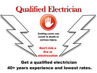 Time served qualified Electrician , Industrial and domestic work undertaken, 40+ yrs experience