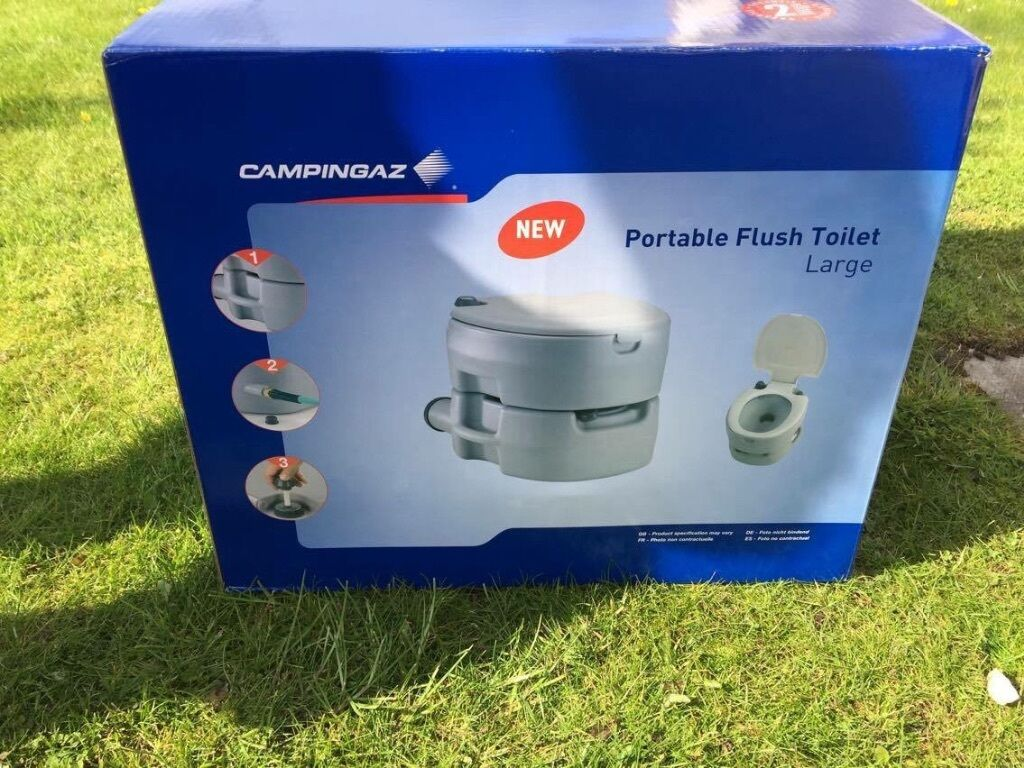 Portable Flush Toilet large- Campingaz . Brand New, never used   in ...