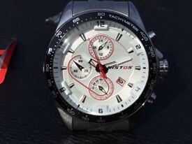 Watch, men's stainless steel sports watch