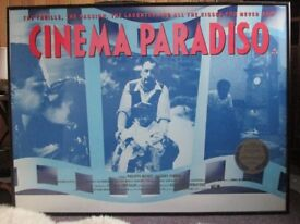 Framed poster from the film Cinema Paradiso