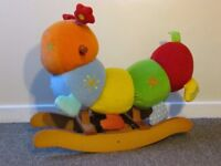 MAMAS & PAPAS Charlie baby Rocking Animal, caterpillar, soft toy, colourful fabric FREE DELIVERY