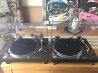Pair of Technics SL1210 Mk 2 Turntables