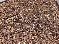 Wood chip / mulch / bark / allotments / gardens/ bedding 3 cubic delivered
