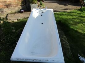 Cast iron bath.