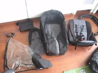 Phil&Ted DOUBLE BABY TWIN PUSHCHAIR BUGGY JOGGER AND COCOON EXTRAS