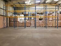 Planned Storage M Series Pallet Racking System 5 bay run