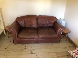 Laura Ashley leather sofa
