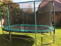 14' oval trampoline