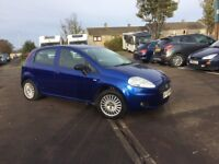 2008 FIAT GRAND PUNTO 1.2 PETROL 5 DOORS HATCHBACK CAR - ONLY DONE 40K -LONG MOT + 3 MONTHS WARRANTY