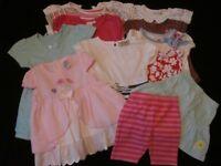 Huge Bundle of Girl's Summer Clothes ~ 6-9 months