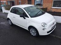 2014 White Fiat 500 POP