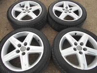 "17"" AUDI S LINE ALLOY WHEELS / TYRES - 5 X 112 FITMENT"