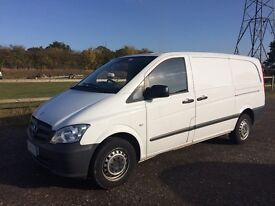 MERCEDES VITO 113 CDI LWB DIESEL 2013 63-REG *AIR CONDITIONING* FULL SERVICE HISTORY DRIVES LIKE NEW