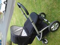 black mothercare my4 pram/ pushchair/ buggy