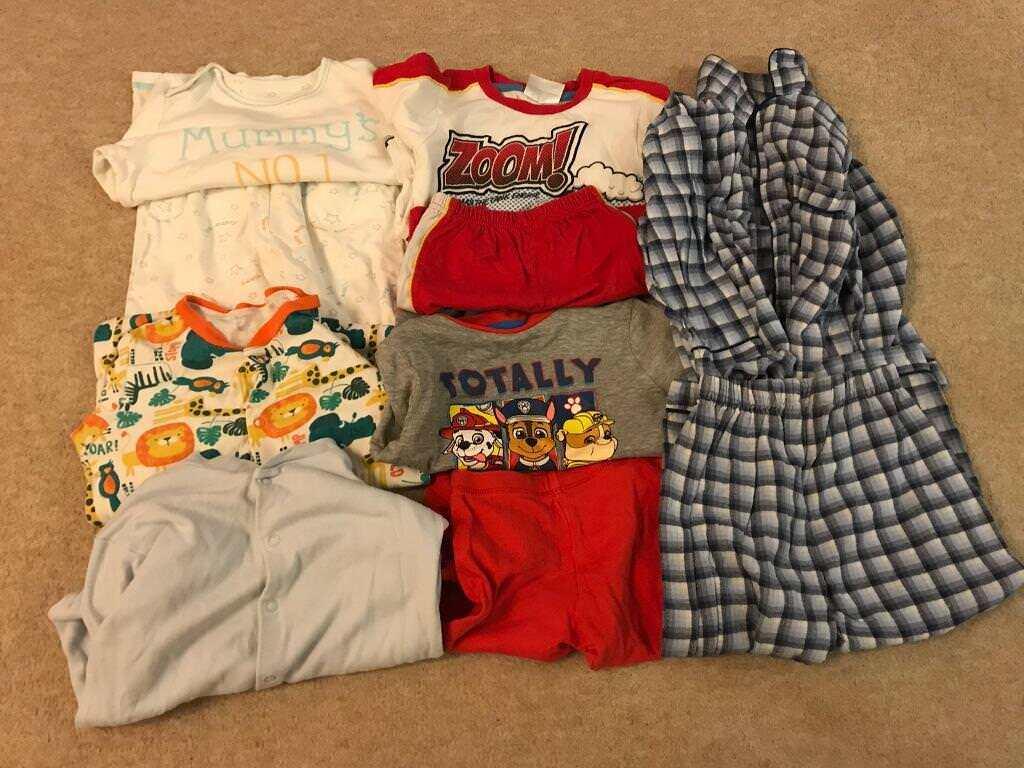 18 24 Months Baby Boy Night Clothes Bundle In Stevenage