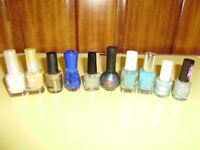 Nail vanish, selection of different colours and makers