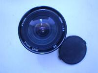 Vivitar 19mm F3.8 wide angle lens.