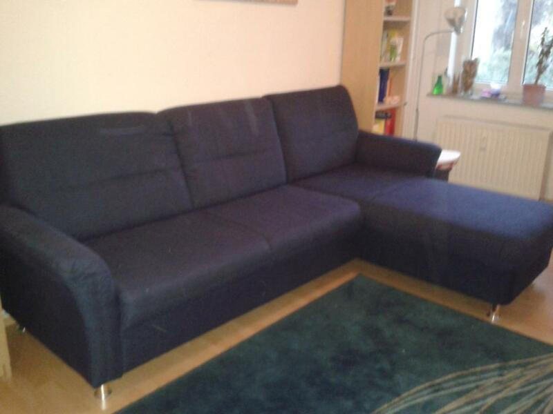 blaues sofa mit ottomane in leipzig s dost ebay. Black Bedroom Furniture Sets. Home Design Ideas