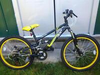 brand new never been used 24inch 18 speed mountain bike shimano equipped