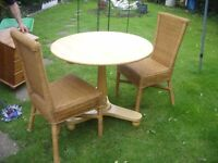 SPACE SAVING PINE TILT TOP TABLE AND CHAIRS