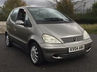 2004 MERCEDES A160 ELEGANCE * MANUAL * 5 DR * LOW MILES * S/HISTORY * PART EX * DELIVERY *