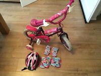 Girls bike 3-6y