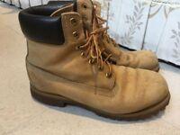Timberland mens beige suede waterproof boots, 43 / uk9, rrp £170