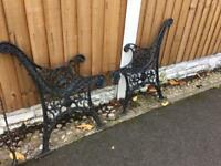 stunning well built lions head cast iron bench ends / 2 matching sets available £30 each