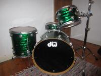 Drum Workshop DW Collectors Series Maple: Emerald Onyx Wrap: Quick Sale