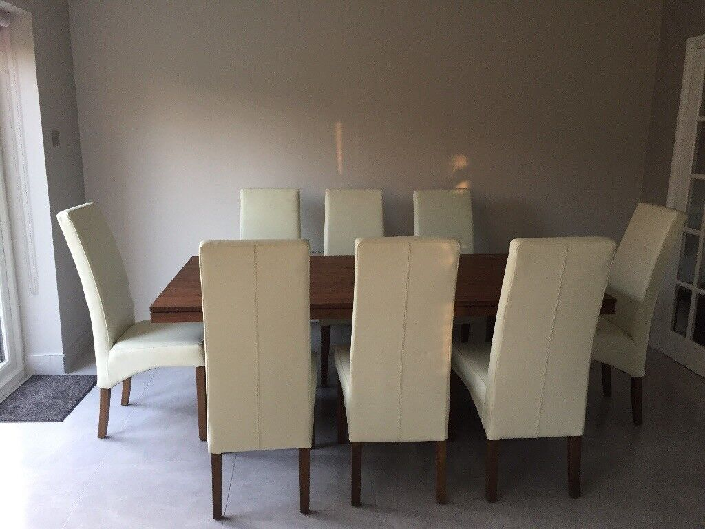 Walnut Dining Table & Chairs Belfast
