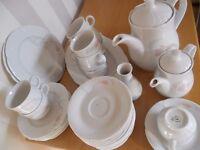 Vintage Coffee Set, Austrian Lilien porcelain, Perfect